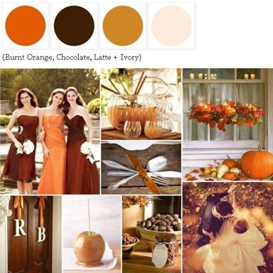 Burnt Orange, Chocolate, Latte + Ivory...My color palette!!