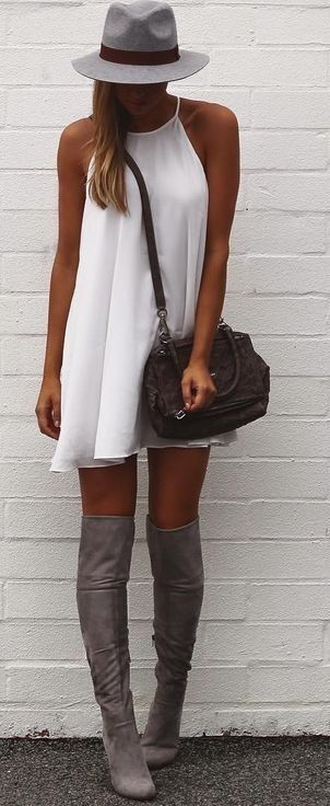 #summer #fblogger #outfits   Grey + White