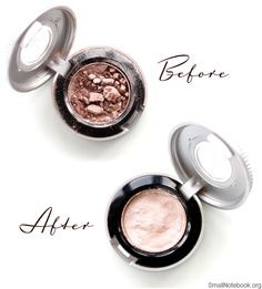 How To Fix Broken Makeup Using Rubbing Alcohol.... *(Does work, but very fragile. Will EASILY break again if tossed about in your purse for example).