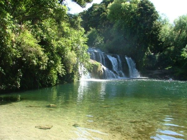Maraetotara Falls, Hastings, New Zealand.  Choice swimming spot.