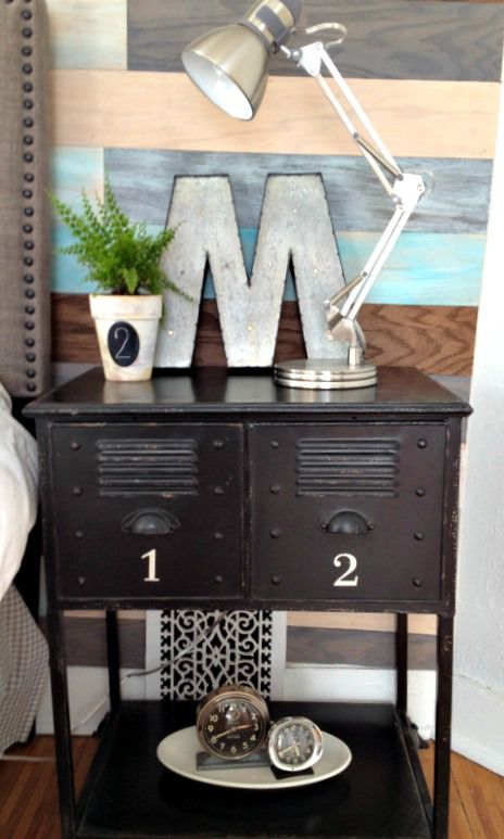 Industrial Chic Bedroom Makeover on a dime