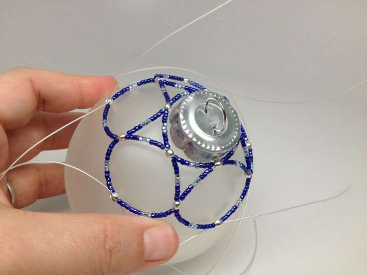 Free Beaded Ornament Cover Patterns | ... : DIY: Free Beaded Holiday Ornament Using Bead Wire Pattern