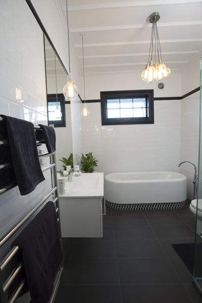 Alice and Caleb's Bathroom and Laundry - Room Reveals - Alice and Caleb - Teams - The Block NZ - Shows - TV3