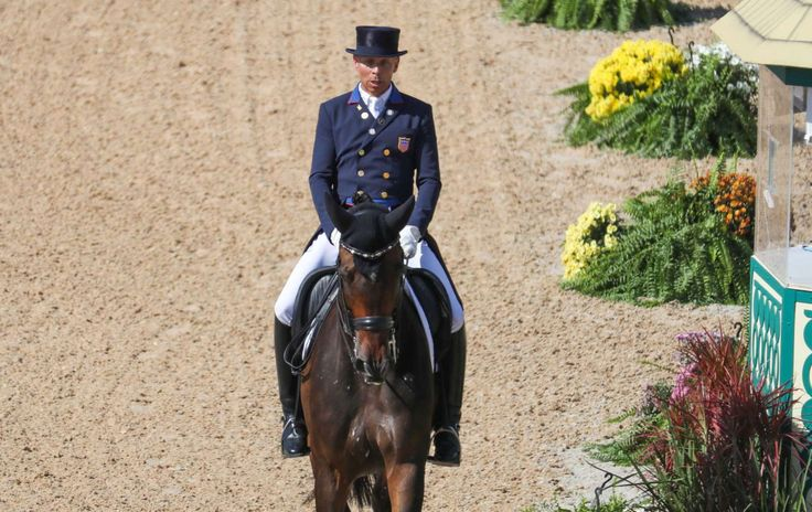 Steffen Peters of the United States rides Legolas 92 during dressage individual grand prix freestyle competition in the Rio 2016 Summer Olympic Games at Olympic Equestrian Centre.       -  Best images from Aug. 15 at the Rio Olympics:  2016