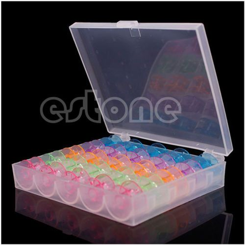 Simple-25PCS-Empty-Colorful-Sewing-Machine-Spool-Storage-Box-Bobbin-Case-Gift