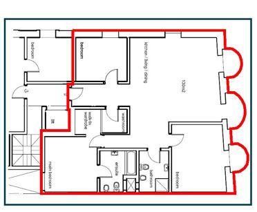 Appartamento n. 7 – Piano Terzo  Appartamento di 131 mq utili   balcone di 5 mq composto da:  Ampia sala con zona cottura, terrazza, tre camere di cui una con bagno in camera e cabina armadio, bagno, rip...