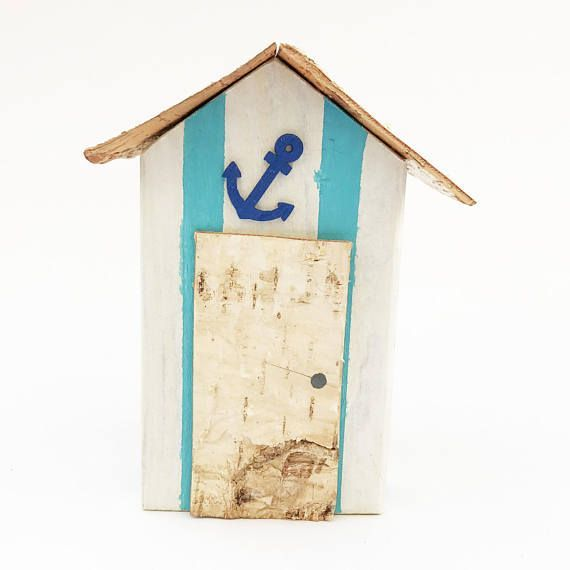 Beach Hut Ornament Coastal Bathroom Accessories Nautical Garden Ornament Beach Hut Beach Bathroom Decor Coastal Ornament