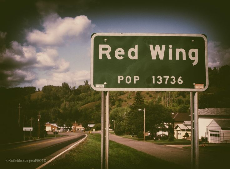 Red Wing photography,original art print road sign photo Minnesota picture wall art fine artwork road print décor film by KaleidoscopesPHOTO2 on Etsy