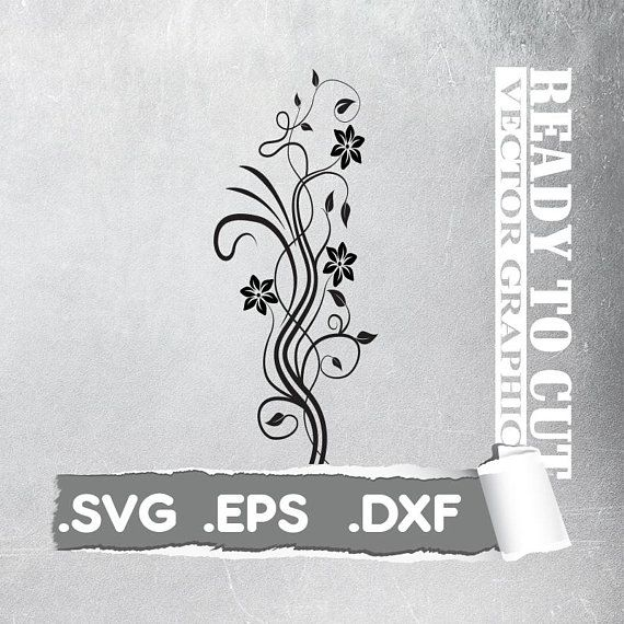 Cut Ready -  Flower svg - Floral Decal svg - Cut Ready Vector File - Svg, Eps, Dxf