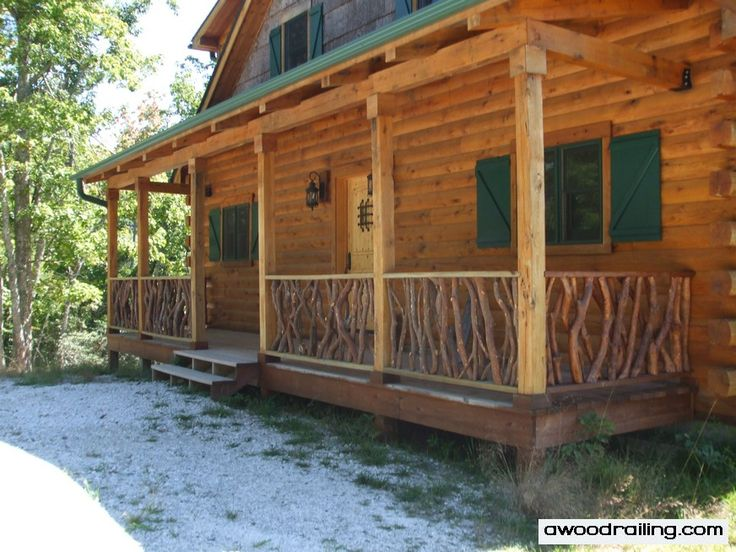17 best ideas about rustic deck on pinterest for Log home decks