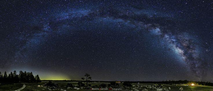 "Milky Way from Hanson Lagoon 360°  80 shots: 15"" ISO 3200 f/1.8 28mm"