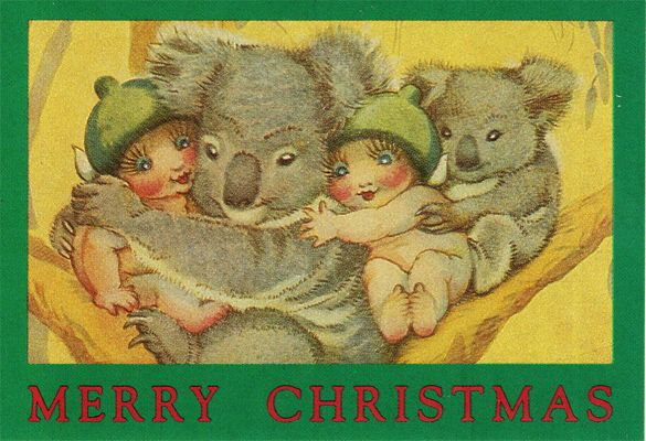 Awesome Koala Christmas Card