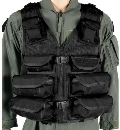 "BLACKHAWK! Omega Tactical Vest Medic/Utility by BlackHawk. $104.99. Made of heavy-duty nylon mesh for maximum breathability. Adjustable for length and girth; up to 6"" length, additional 32"" girth. Robust drag handle. #10YKK Vislon zippers; side release buckles. Two large internal zippered map pouches. Interior BLACKHAWK! Hydration reservoir pocket (reservoir not included). Shoulder D-rings for accessory attachment. Eight utility pouches for medical supplies and gear. Hook & loo..."