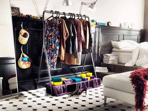 Wardrobe Storage Idea  Clothes Rack. 30 best closet solutions images on Pinterest