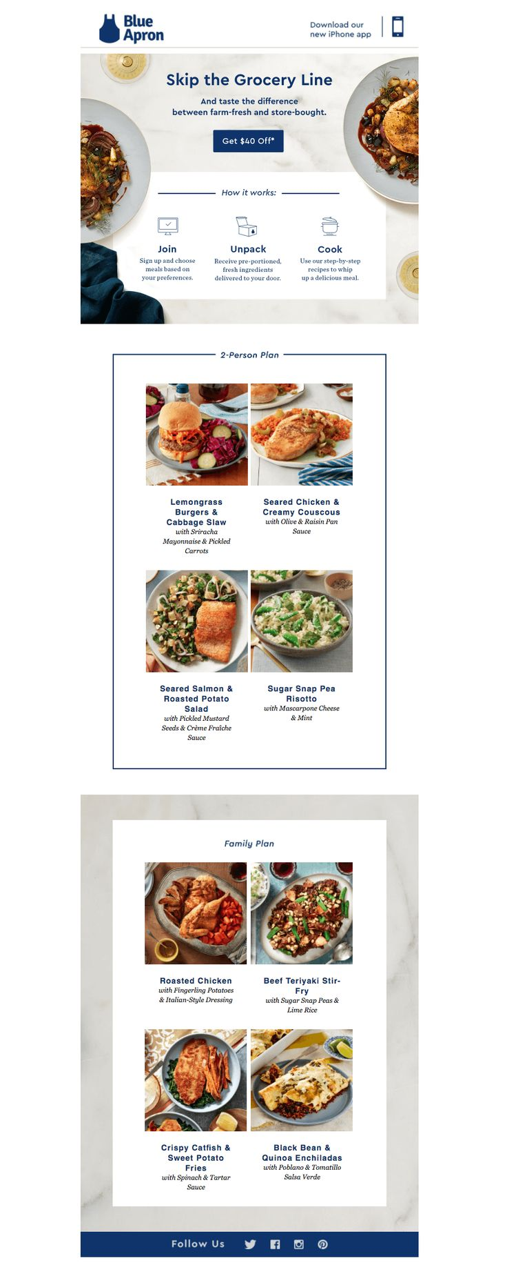Blue apron halal - How Are Food Startups Recipe Blogs And Other Food Companies Using Emaildesign Blue Apronrecipe
