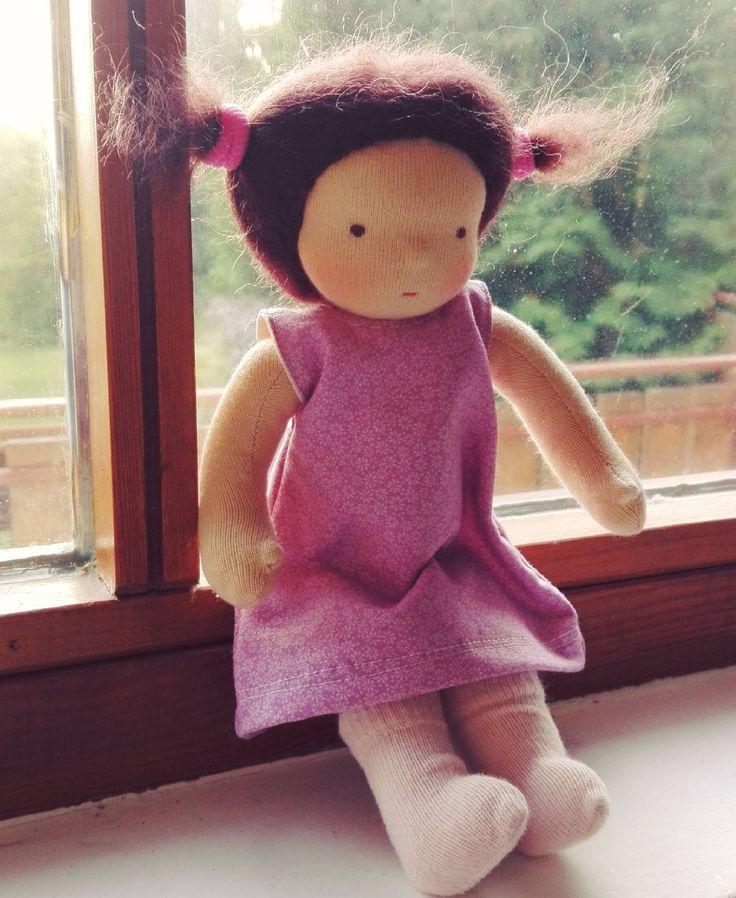 One more doll with brown hair was born for custom request. She will have a kind family in Colorado.  . . #naronka #waldorfdoll #waldorfinspired #waldorfdollsewing #dollsewing #doll #instadoll #naturaltoy #natural #instahun #etsyseller #forkids #etsyshop #waldorfbaba #babakészítés #baba #gyerekeknek