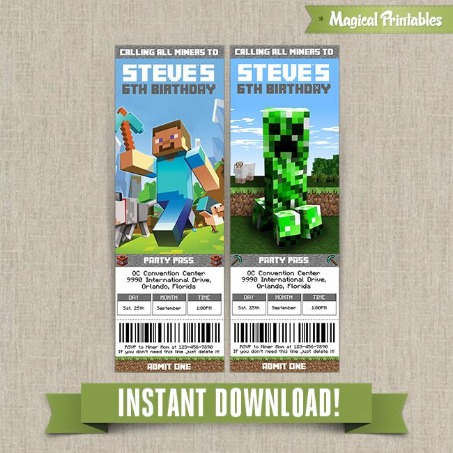 26 Best Minecraft Birthday For The Boys Images On Pinterest
