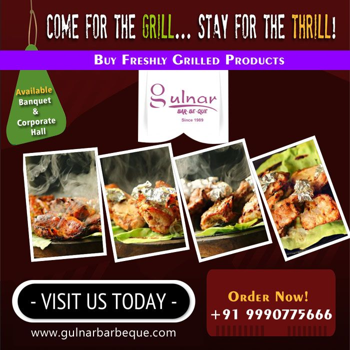 "Enjoy your ""hot"" dinner Order Online:- +91 9990775666 Read more:- gulnarbarbeque.com"