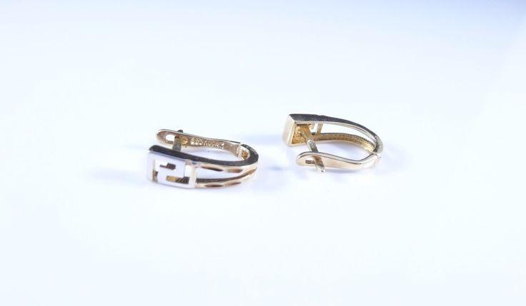 $156 14K Gold Earrings, info@bijuterie-online.ro.