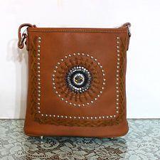 Western Montana American Bling Concealed Handgun Messenger Cross Body Bag