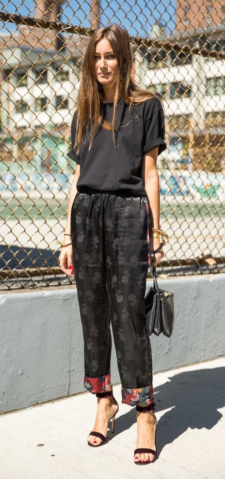 Black on black with silk details