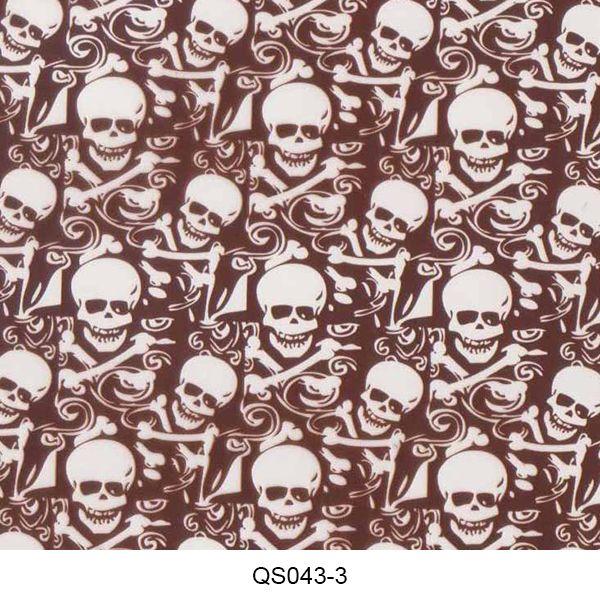 Hydrographics film skull pattern QS043-3