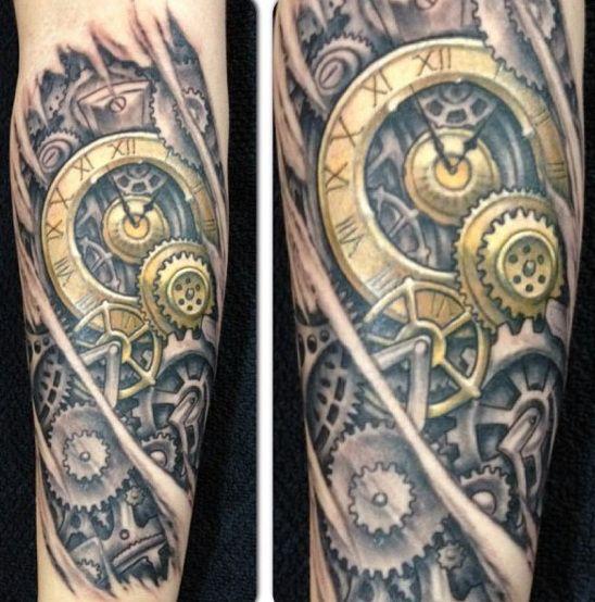 75 Steampunk Tattoo Designs For Men - Masculine Machinery