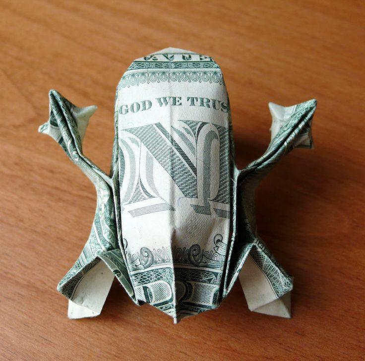 Dollar Bill Origami Tree Frog by craigfoldsfives o…