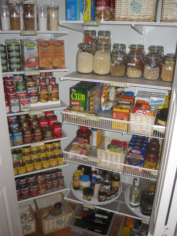 closet maid shelving ideas - pantry organization Organized elfa pantry