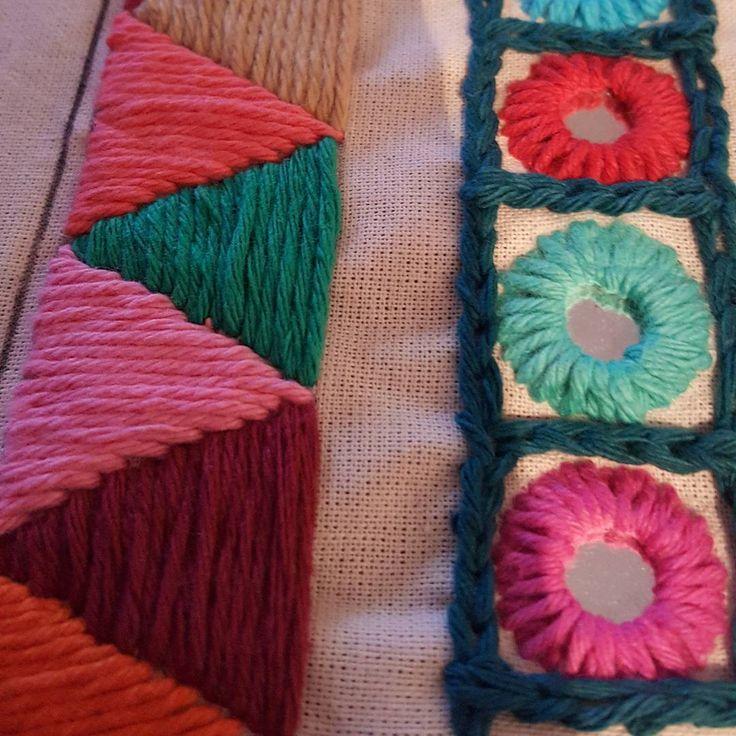 Terminando carterita en bordado Hindú ❤