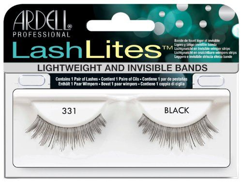 Ardell 331 Lashlites. Lashes so subtle they're the ideal addition to everyday makeup. Lightweight and invisible bands. Fills gaps. Adds volume and length. Reusable.