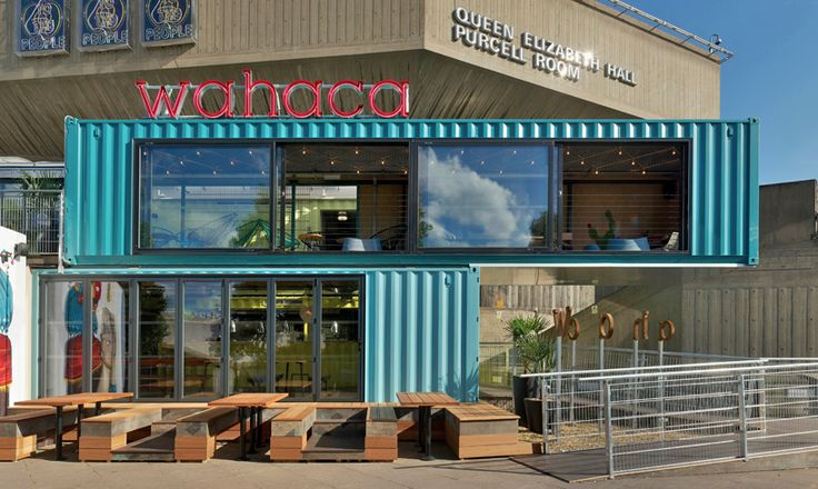 wahaca southbank experiment: shipping container restaurant…
