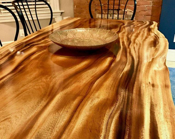 Mini Fridge Table Live Edge Dining Table Dining Table Living Table