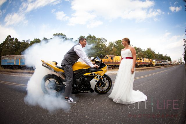Art + Life Photography..Motorcycle Couple