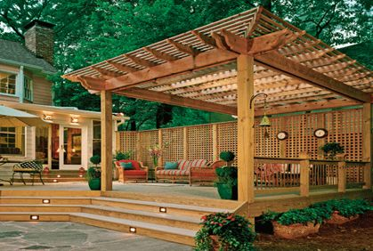 Online Photo Gallery of Best Deck Designs Ideas & Pictures--deck with pergola