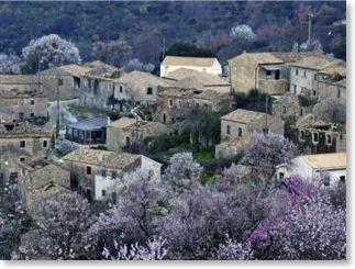 the village of Old Perithia, Corfu