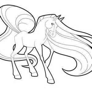 scarlet long mane in horseland coloring pages