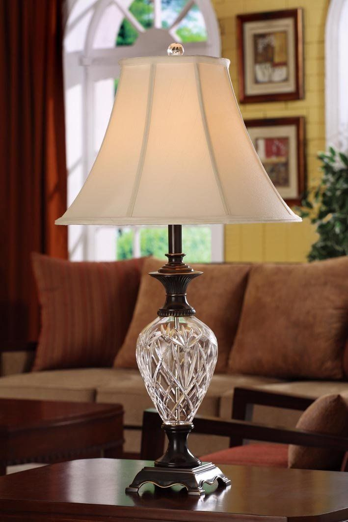 Litemaster Oil Rubbed Bronze W 24 Lead Crystal Table Lamp Crystal Table Lamps Table Lamp Lamp