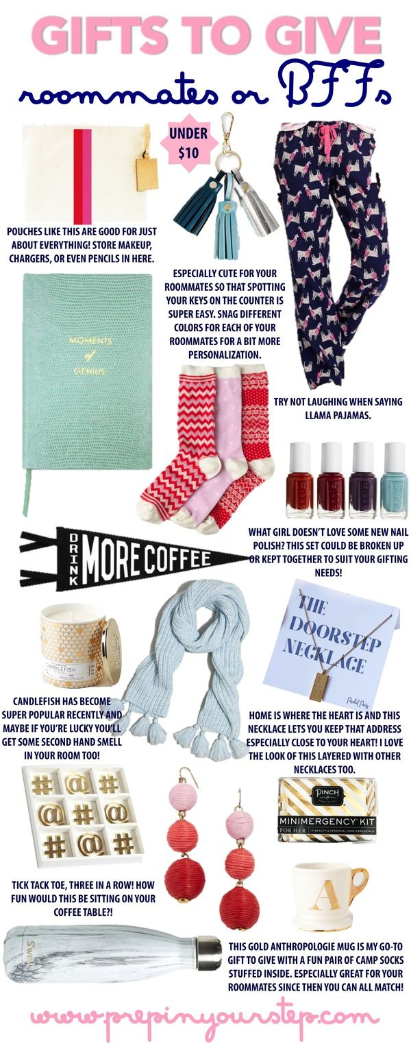 budget friendly gifts for your roommates or BFF