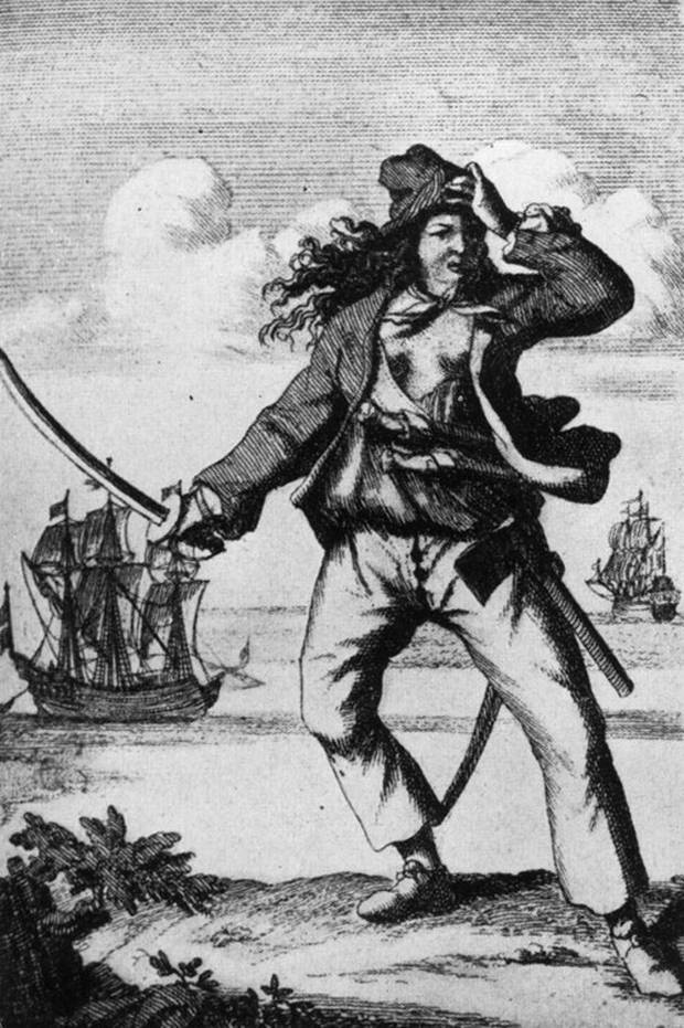 Committing her first murder aged 13, notorious pirate Anne Bonney was a famed member of Rackham's pirate crew in the 18th century. Mucking in with the men, Bonny was a fierce fighter and one of very few female pirates of the time.