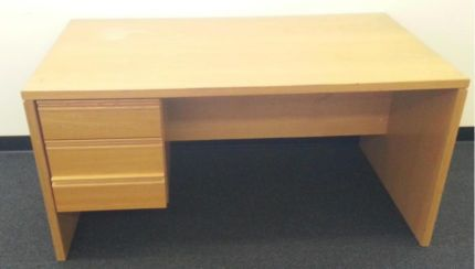 $100 Vintage Office DESK Solid Timber 165x135x75cm Text 0411691171 or email info@bitspencer.com