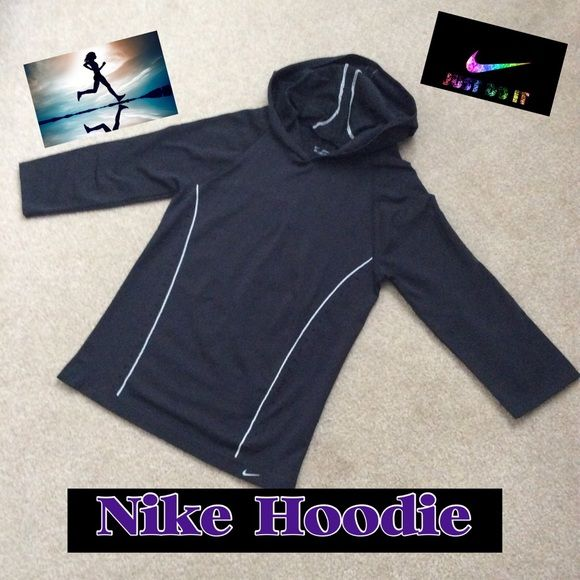 NIKE PULLOVER HOODIE Nike performance pullover Hoodie. seamless, 3/4 Sleeves. Venting on front down both sides. AIDS in Fabric wicking away moisture. Like New Condition. No pulls Nike Other