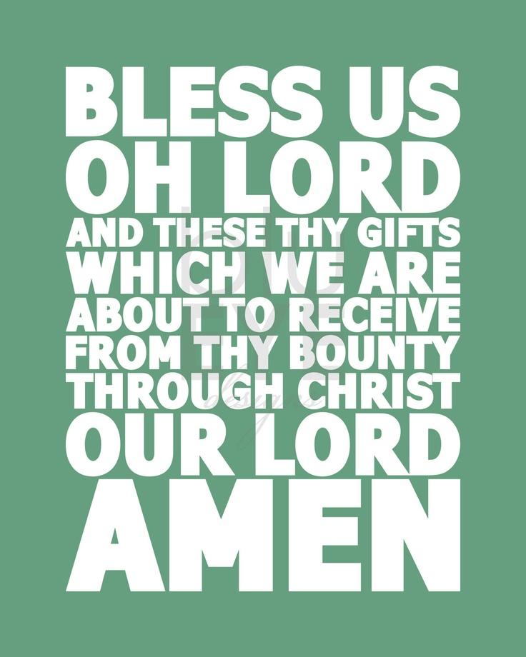 Meal Prayer INSTANT DOWNLOAD
