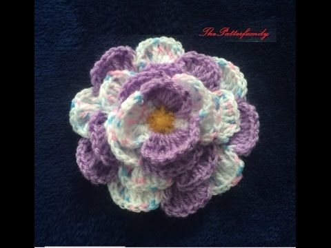How to Crochet a Flower Pattern #80│by ThePatterfamily