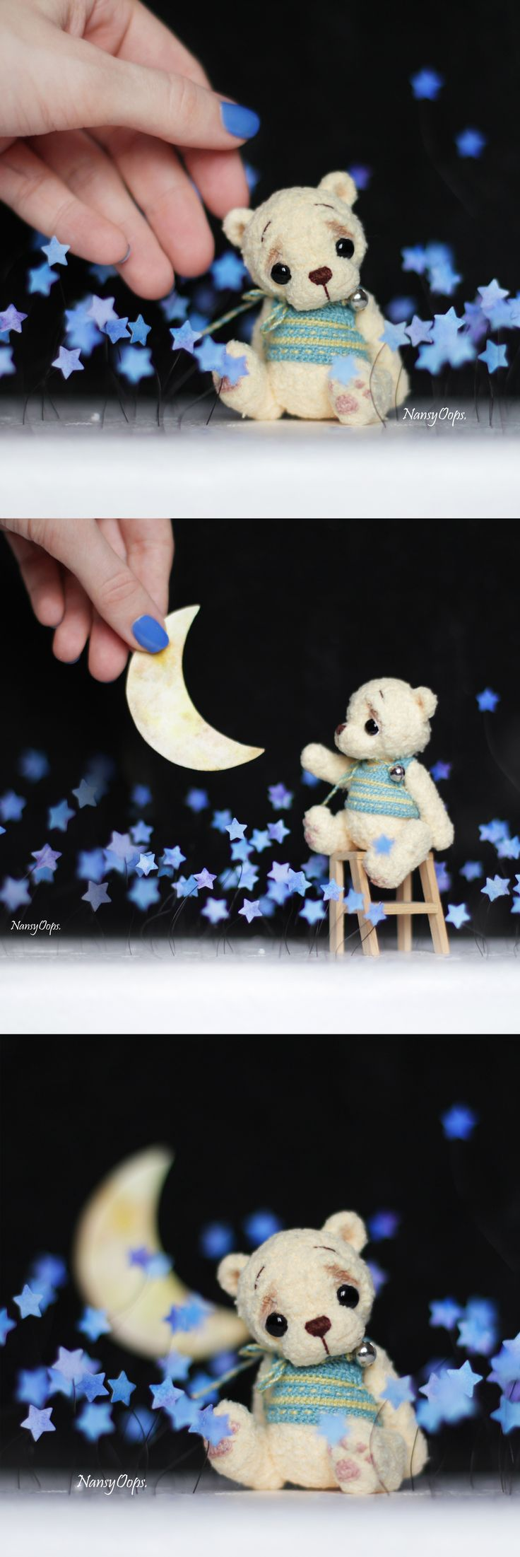 #dreams #teddybear #amigurumi #crochet #crocheting #toys #cute #bear #teddy #stars #night #knitting #miniature