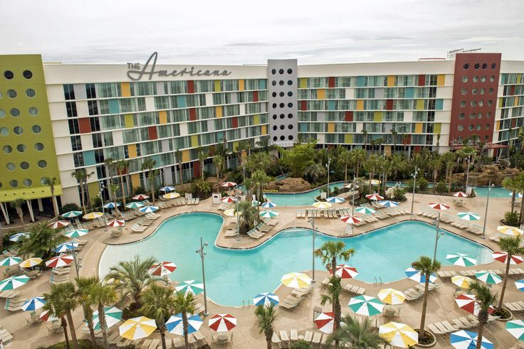 08cheap - Your odds of warm weather in Orlando this winter are pretty good, so allow for some time at poolside. Shown here: Cabana Bay Beach Resort. (Universal Orlando)