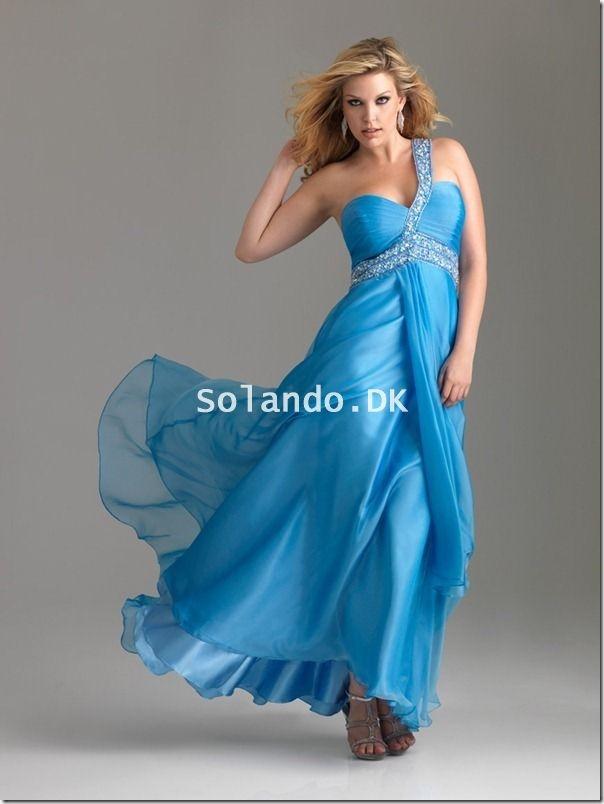 Blå Store Størrelser Kjoler