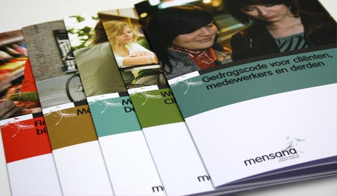 Ontwerp folderlijn voor Mensana RIBW Noord en Midden Limburg