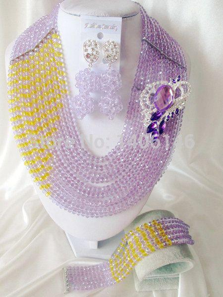 2014 продажа ювелирных изделий комплект последние светло-фиолетовый, Сирень, Лаванда шампанское кристалл нигерии свадьба африканские бусины комплект ювелирных изделий Ab1195