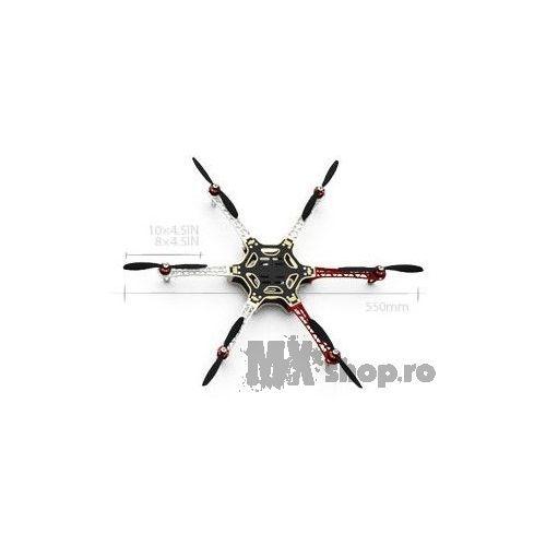 Hexacopter DJI Flame Wheel F550 KIT (cu motor, elice, ESC) - MXShop - GoPro - TU esti EROUL